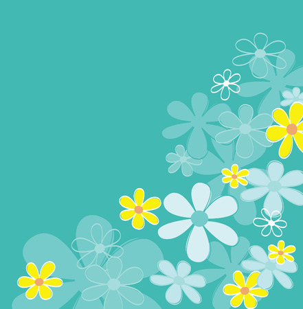 vector lines: Blue retro flower texture. Retro flower design. Vector Illustration | easy to resize and change colors. Illustration