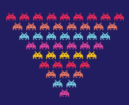 invaders: Space Invaders. Ilustraci�n de los extraterrestres. Formato vectorial. Vectores