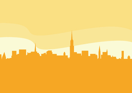 Vector city silhouette. New York city silhouette.Vector Illustration. Vector