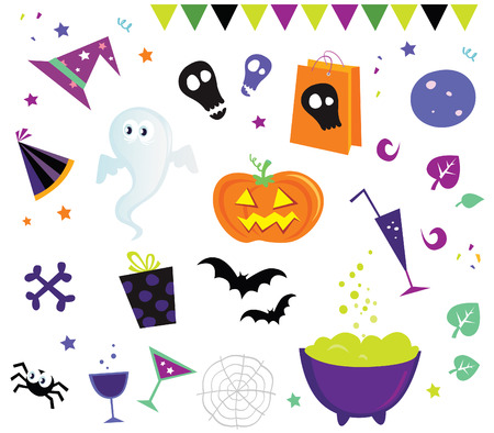 Halloween vector design elements and icons II. Halloween vector icons. Vector
