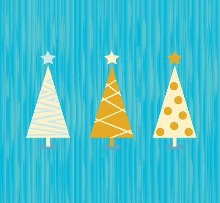 Vintage christmas tree pattern. Modern christmas trees pattern. Vector Illustration in vitage style.