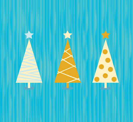 Vintage Weihnachtsbaum-Muster. Modern-Weihnachten-B�ume-Muster. Vektor-Illustration in Vitage Stil.  Illustration