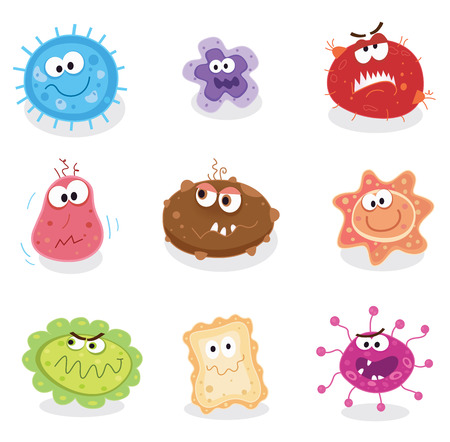 Bugs and germs I. Swine flu, cancer, staphylococcus or trojan virus? Use my BIG COLLECTIONS of bugs and germs. 9 pieces of nasty germs in one collection. Illustration