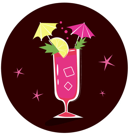 Retro-stylized cocktail illustration: Bloody Mary Stock Vector - 7699545