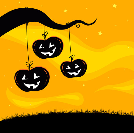 Halloween Jack O'Lantern Tree Stock Vector - 7852478
