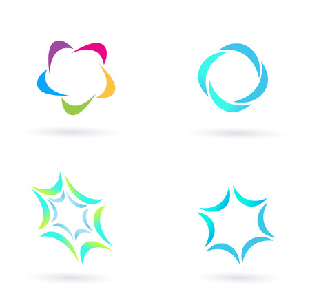 Design icons and elements isolated on white. Vector Illustration. Vector