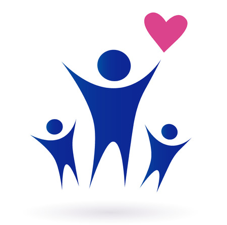 togetherness: Family, Health and Community icon isolated on white. Vector pictogram ispired by people, family, love and togetherness. Illustration
