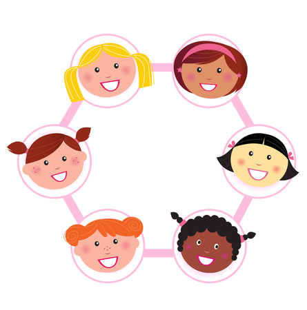 Unity - multi cultural woman group union / network Stock Vector - 8909762