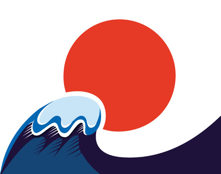 Earthquake and Tsunami memory damaged Japan on March 11, 2011  Vector
