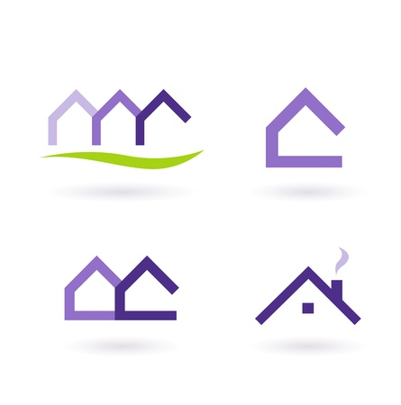 building real estate modern: Collection of real estate  architecture icons. Vector format. Illustration