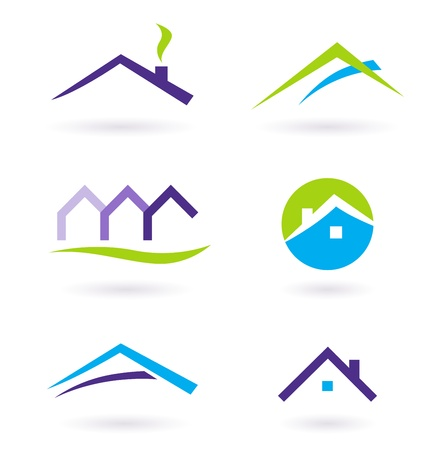 private property: Collection of real estate  architecture icons. Vector format. Illustration