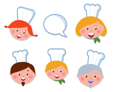 Vector Icon set - Food Service, Chef family.  Vector
