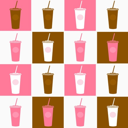 Coffee cup abstract stylized background. Vector Vector