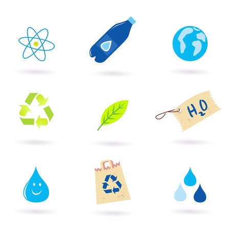 Recycle icons collection, vector Illustration Vector