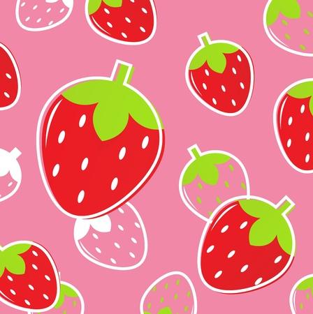 Patrón de fruta sabrosa estilizada. Ilustración vectorial.