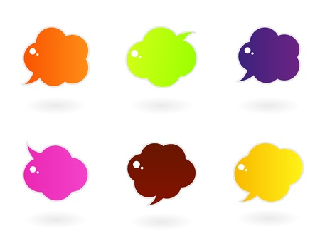 Vector speech glossy bubbles collection. Vector Illustration. Vector