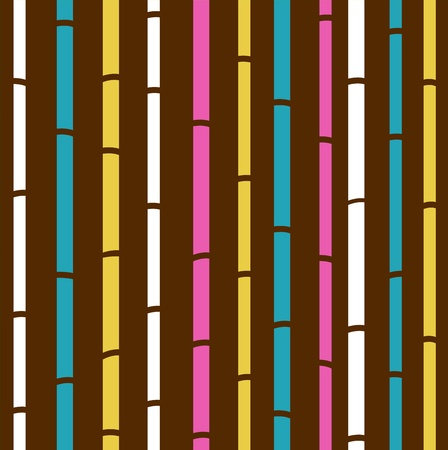 feng shui: Fresh colorful bamboo pattern stripes Illustration