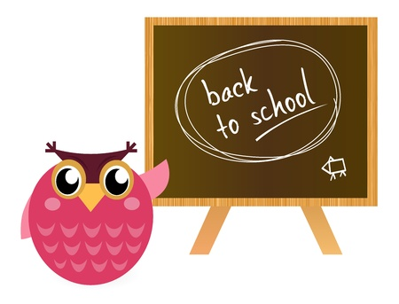 Owl Teacher in the school Vector