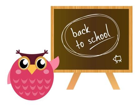 Owl Teacher in the school Vector