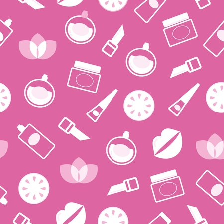 Vector background with Cosmetics element Vector