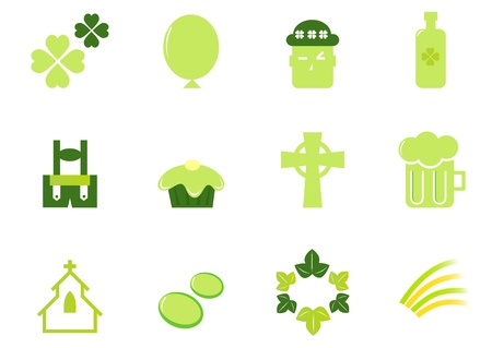 Design icons set for Patrick's Day - vector. Stock Vector - 10445357