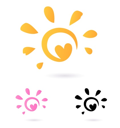 Sun sign or icon isolated on white background. Stock Vector - 10492829
