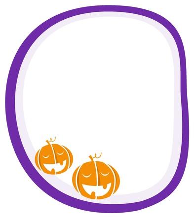 Blank banner with Halloween Pumpkin heads. Vector background. Stock Vector - 10661581