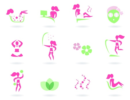 Vector collection of spa and wellness icons - isolated on white background.  Vector