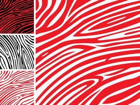 Red Zebra background pattern - perfect texture for your unique design! Stock Vector - 10824104