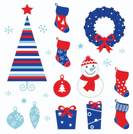 Christmas vector icons collection.  Illustration