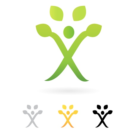 Growth symbol, Human Tree, vector design element. Vector