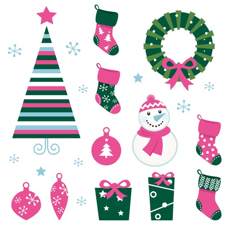 Christmas vector icons collection.  Vector