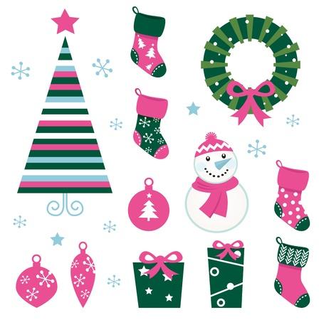 Christmas vector icons collection.  Vector