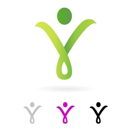 Wellness o fit segno / icona isolato su bianco. Vettore