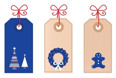 Vector de Navidad Tags colección por tu regalo!