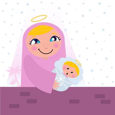 madona: Natividad de Bel�n escena: la Virgen Mar�a y Ni�o Jes�s.