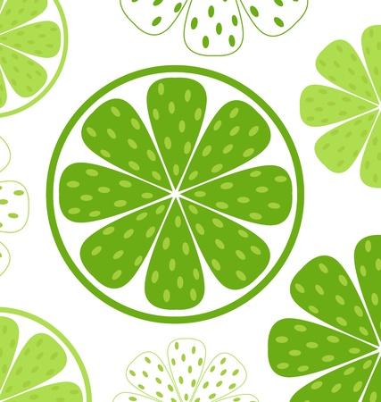 Licht en verse groene Limette patroon of textuur. Vector