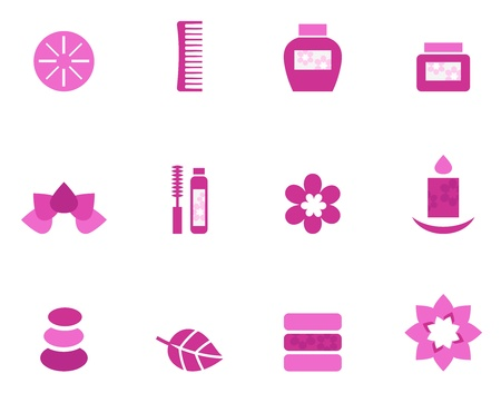 Collection of wellness and spa icons. Vector retro Illustration Stock Vector - 11658297