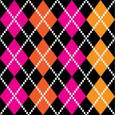 checks: Vintage argile seamless pattern or background. Vector Illustration