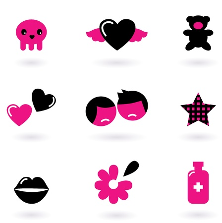 Love and emotional icons. Vector Illustration Vector