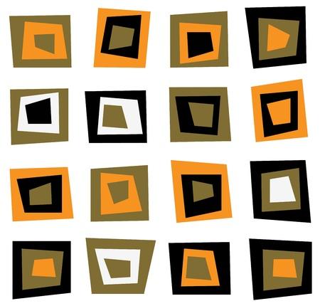 square detail: Fondo retro sin fisuras o patr�n a cuadros marrones Vectores