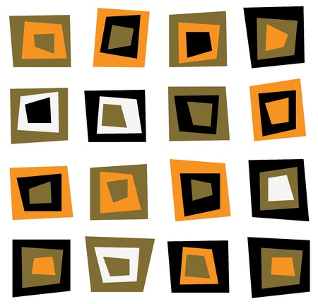 Retro seamless background or pattern with brown squares Stock Vector - 11917906