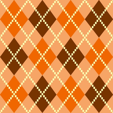 checks: Vintage argile brown seamless pattern or background. Vector