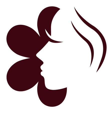 Woman face icon or design element. Vector Stock Vector - 12022580
