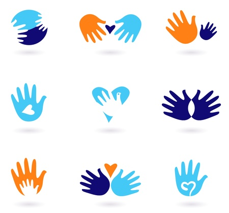 Love and friendship icon set. Stylized Vector Illustration Stock Vector - 12022575