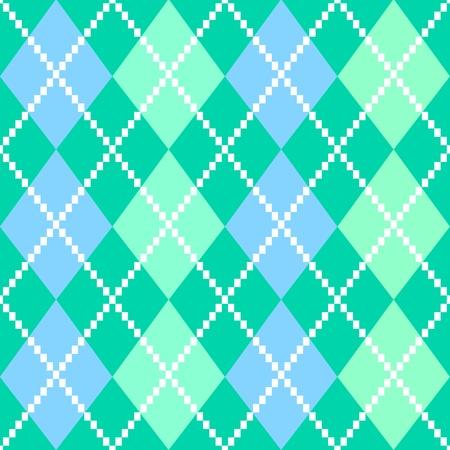 argyle: Vintage argile seamless pattern or background. Vector Illustration