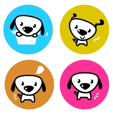 Dog icons collection. Vector Illustration