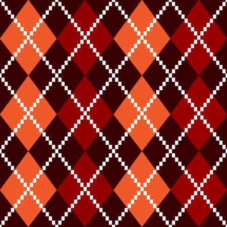 checks: Retro colorful colorful argile pattern - orange and red