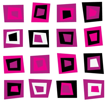 Abstract squares seamless vector retro pattern.