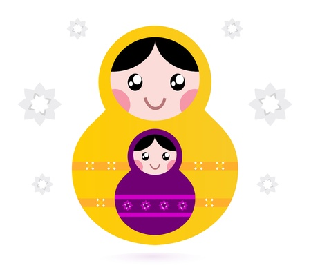 Russian nested dolls, also known as Matryoshka. Vector Stock Vector - 12481491